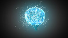 Cerveau tournant sur le fond gris illustration de vecteur