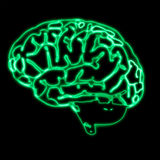 Cerveau vert abstrait illustration stock
