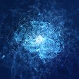 Cerveau virtuel de triangle d'abrégé sur hologramme Images stock