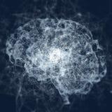 Cerveau virtuel de triangle d'abrégé sur hologramme Photographie stock