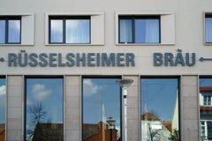 Cervecería Ruesselsheim del restaurante Foto de archivo libre de regalías