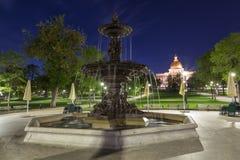 Cervecero Fountain en la noche en Boston fotos de archivo libres de regalías