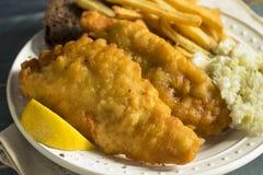 Cerveja caseiro peixe frito golpeado fotografia de stock royalty free