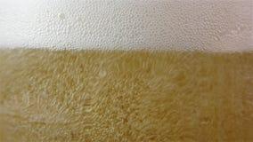 A cerveja clara é derramada dentro um vidro vídeos de arquivo