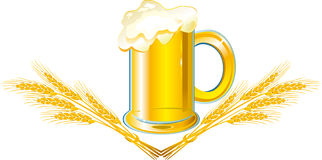 Cerveja com orelhas ilustração stock