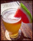 Cerveja da melancia foto de stock