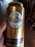 Cerveja de Cerveza Warsteiner Foto de Stock