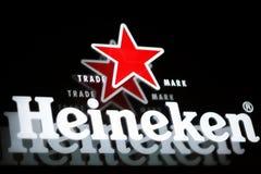 Cerveja de Heineken Fotos de Stock