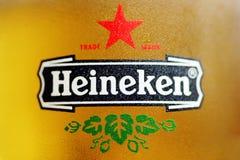 Cerveja de Heineken Foto de Stock Royalty Free