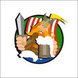 Cerveja de viquingue do logotipo Foto de Stock Royalty Free