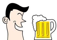 Cerveja do divertimento Foto de Stock Royalty Free