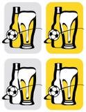 Cerveja do futebol Foto de Stock