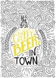 Cerveja do ofício ilustração stock