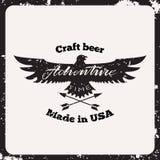 Cerveja do ofício da etiqueta Fotos de Stock