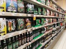 Cerveja e cidra do álcool Imagem de Stock