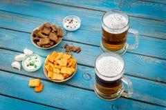 Cerveja e peixes Foto de Stock
