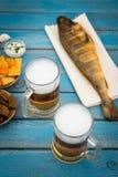 Cerveja e peixes Imagem de Stock Royalty Free