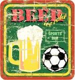 cerveja e sinal da barra de esportes Imagem de Stock