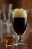 Cerveja e um tiro Imagem de Stock Royalty Free