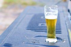 Cerveja fria no vidro Imagem de Stock