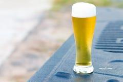 Cerveja fria no vidro Imagem de Stock Royalty Free