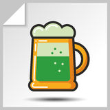 Cerveja icons_7 Imagem de Stock Royalty Free