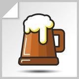 Cerveja icons_6 Fotos de Stock