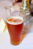 Cerveja IPA do ofício no copo de água fotografia de stock