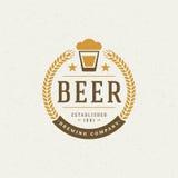 Cerveja Logo Design Element Fotos de Stock