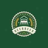 Cerveja Logo Design Element no estilo do vintage Foto de Stock