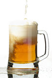 Cerveja no vidro fotografia de stock royalty free