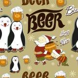 Cerveja nova feliz sem emenda Imagem de Stock Royalty Free