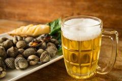 Cerveja queimada e fria do berbigão Fotografia de Stock Royalty Free
