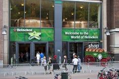 Cervejaria Amsterdão de Heineken fotos de stock royalty free