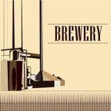 Cervejaria bonita do vintage do vetor Imagem de Stock
