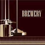 Cervejaria bonita do vintage do vetor Imagens de Stock Royalty Free