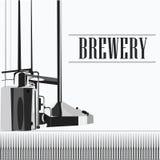 Cervejaria bonita do vintage do vetor Imagens de Stock