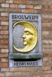A cervejaria da meia lua em Bruges, Bélgica Imagem de Stock