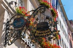 Cervejaria de Schneider Weisse Fotografia de Stock