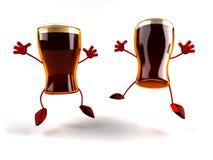Cervejas felizes ilustração stock