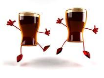 Cervejas felizes Foto de Stock Royalty Free