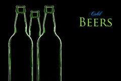 Cervejas frias Fotografia de Stock Royalty Free