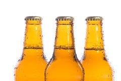 Cervejas isoladas frescas Foto de Stock Royalty Free