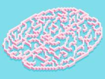 Cervello astratto isometrico Immagini Stock Libere da Diritti