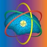Cervello atomico illustrazione di stock