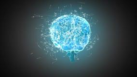 Cervello che fila sul fondo grigio illustrazione vettoriale