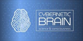 Cervello cibernetico Immagini Stock Libere da Diritti