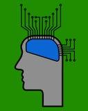 Cervello come chip Fotografia Stock