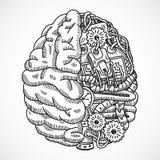 Cervello come macchina utensile Fotografia Stock