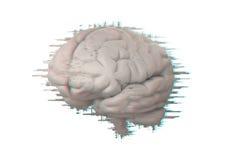 Cervello con effetto di impulso errato illustrazione vettoriale